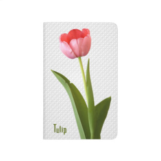 Una foto floral de la primavera de la naturaleza cuaderno grapado
