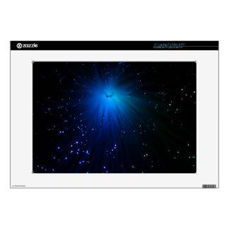 Una foto macra de fibras ópticas iluminadas calcomanía para 38,1cm portátil