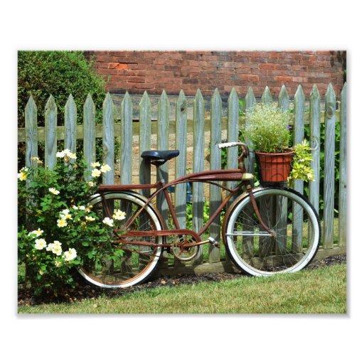 Una fotografía hermosa de la bicicleta del vintage fotografía
