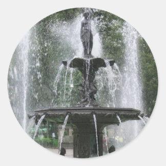 Una fuente hermosa en Alameda México DF 1 Pegatina Redonda