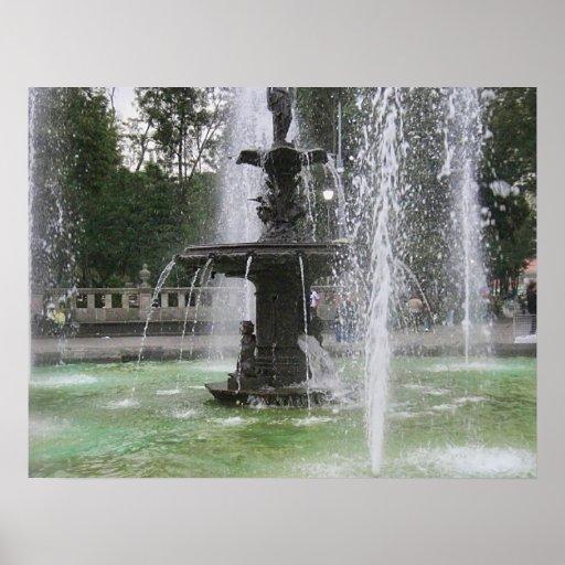 Una fuente hermosa en Alameda México DF 2 Impresiones