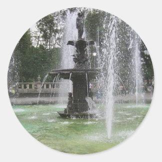 Una fuente hermosa en Alameda México DF 2 Pegatina Redonda