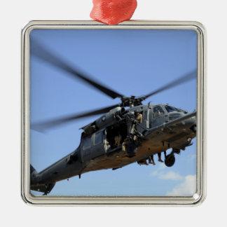 Una fuerza aérea de los E.E.U.U. HH-60 Pavehawk Adorno Navideño Cuadrado De Metal