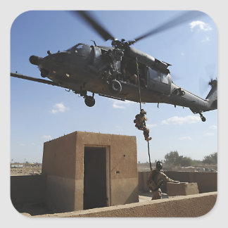 Una fuerza aérea de los E.E.U.U. Pararescuemen Pegatina Cuadrada
