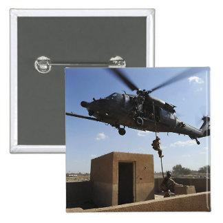 Una fuerza aérea de los E.E.U.U. Pararescuemen Chapa Cuadrada 5 Cm