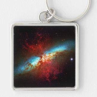 Una galaxia de Starburst - 82 más sucios (galaxia Llavero Cuadrado Plateado