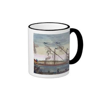 Una galera real (española o portuguesa) remó por e taza de café