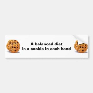 Una galleta de la dieta equilibrada en cada pegati pegatina para auto