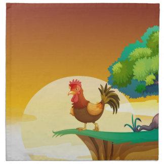Una gallina servilleta
