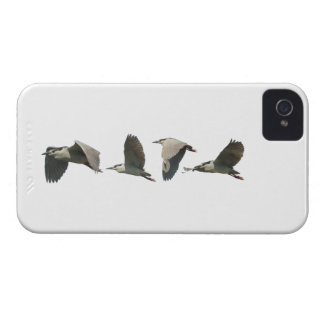 Una garza vuela a través de su caja intrépida de iPhone 4 Case-Mate protector