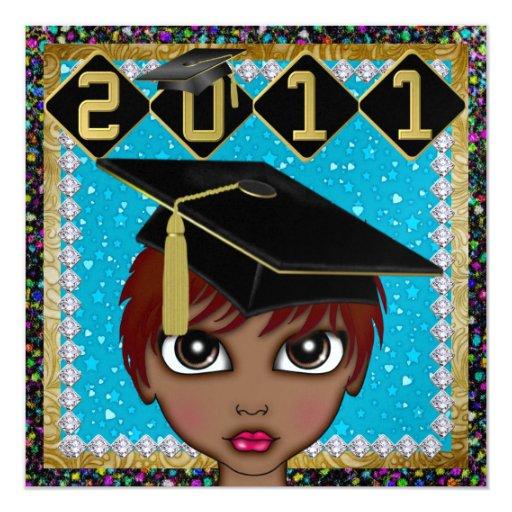 """Una graduación elegante de la diva - SRF Invitación 5.25"""" X 5.25"""""""