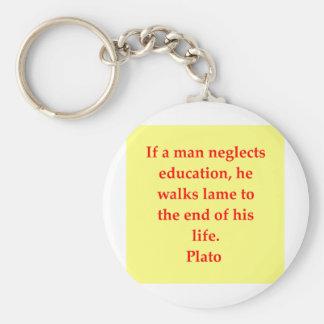 Una gran cita de Platón Llavero Personalizado