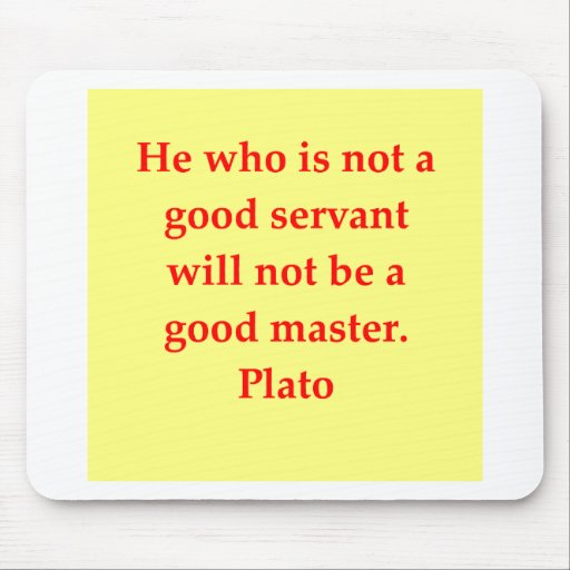 Una gran cita de Platón Tapete De Ratón