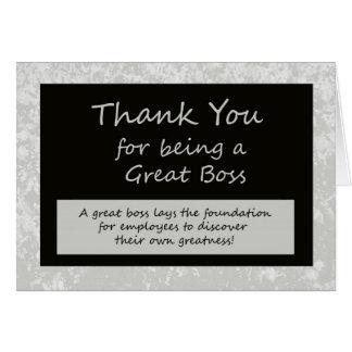 Una gran tarjeta del día de los jefes de Boss
