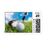 Una gran tarjeta del golf a gozar timbres postales