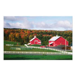 Una granja en Vermont cerca de Peacham. LANZAMIENT Fotografías