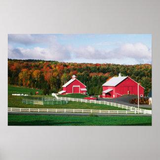 Una granja en Vermont cerca de Peacham. LANZAMIENT Póster