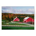 Una granja en Vermont cerca de Peacham. LANZAMIENT Felicitación