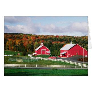 Una granja en Vermont cerca de Peacham. LANZAMIENT Tarjeta De Felicitación