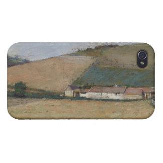 Una granja entre las colinas, Giverny, c.1887 iPhone 4 Fundas