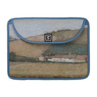 Una granja entre las colinas, Giverny, c.1887 Fundas Macbook Pro