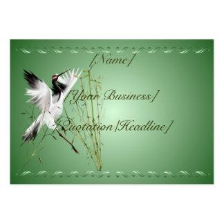 Una grúa en el profilecard_chubby_horizont de bamb tarjetas de visita grandes