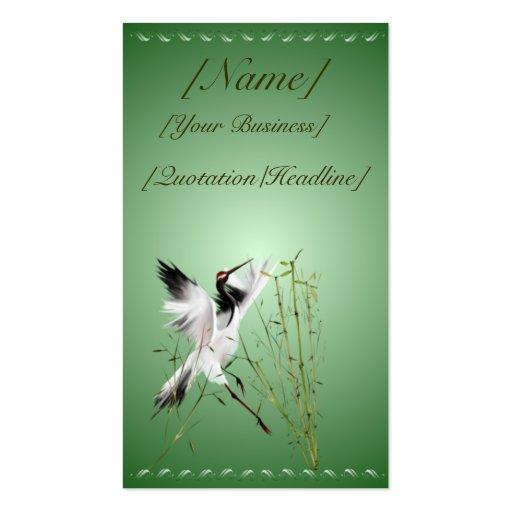 Una grúa en profilecard_business_vertic de bambú… tarjetas de visita