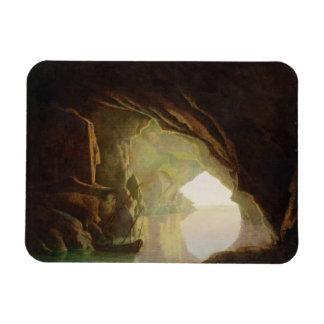 Una gruta en el golfo de Salerno, puesta del sol,  Imán Foto Rectangular