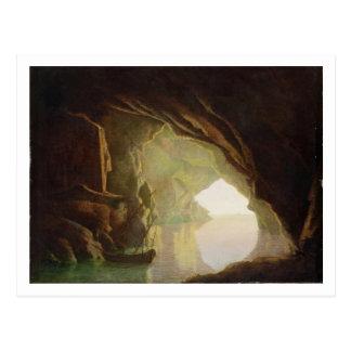 Una gruta en el golfo de Salerno, puesta del sol, Tarjetas Postales