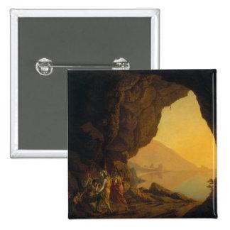 Una gruta en el Reino de Nápoles Pin Cuadrada 5 Cm
