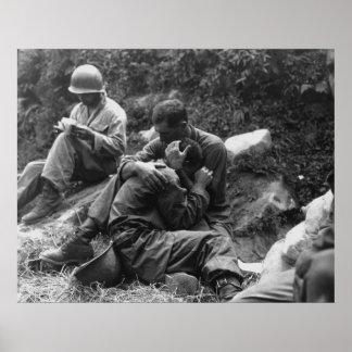 Una Guerra de Corea americana pegada pena del Póster