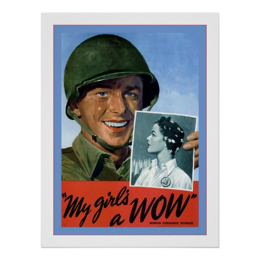 Una guerra mundial de WOW~Vintage de mi chica 2 Póster