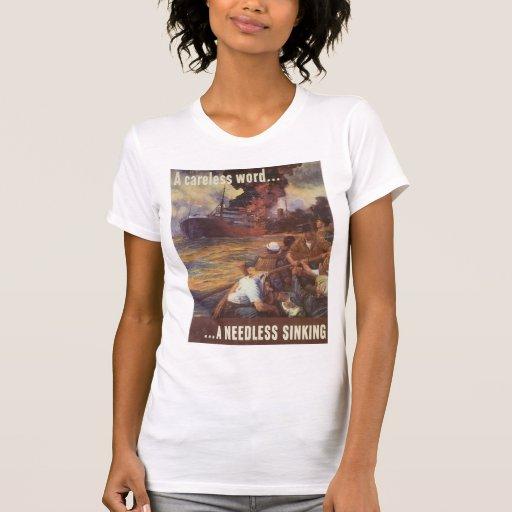 Una guerra mundial descuidada de la palabra 2 camisetas