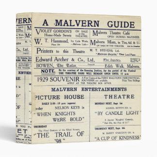 """Una guía de Malvern Carpeta 1"""""""