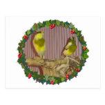 Una guirnalda amarilla del navidad tarjetas postales