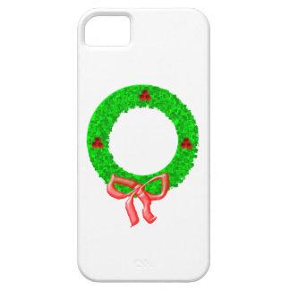 Una guirnalda del navidad con bayas y un arco funda para iPhone 5 barely there