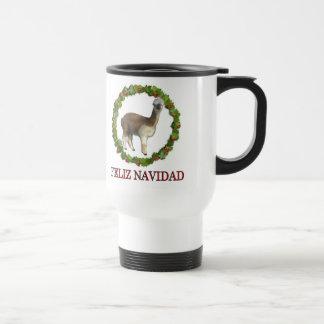 Una guirnalda del navidad de Feliz Navidad de la a Taza De Café