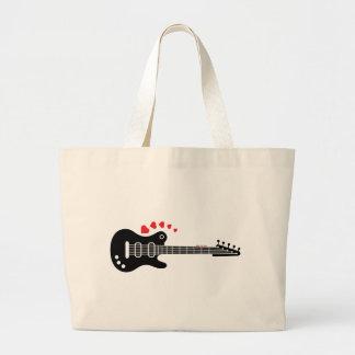 Una guitarra para una serenata del amor bolsas