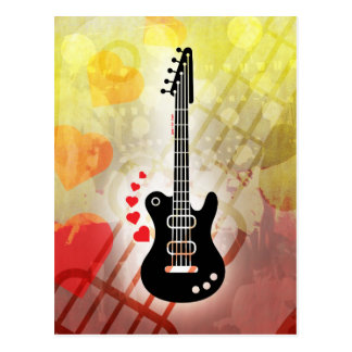 Una guitarra para una serenata del amor postal