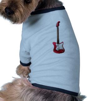 Una guitarra camiseta con mangas para perro