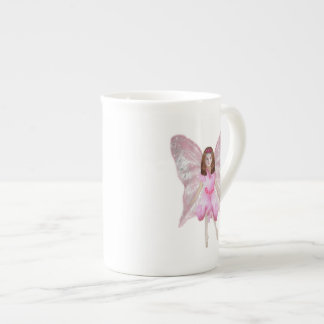 Una hada color de rosa taza de porcelana