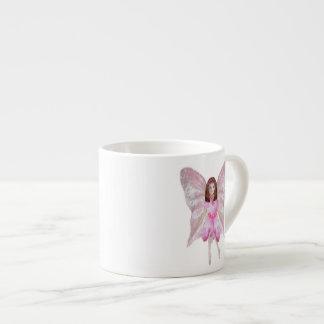 Una hada color de rosa taza espresso