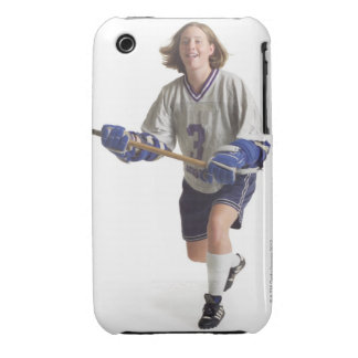 una hembra caucásica adolescente en un jersey blan Case-Mate iPhone 3 carcasa