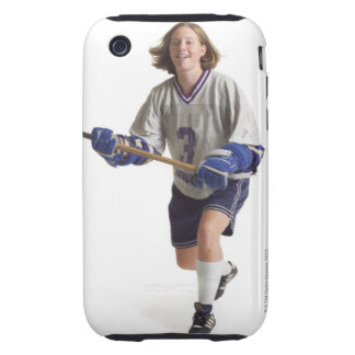 una hembra caucásica adolescente en un jersey blan iPhone 3 tough carcasa