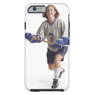 una hembra caucásica adolescente en un jersey funda de iPhone 6 tough