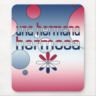 Una Hermana Hermosa America Flag Colors Pop Art Mouse Pad