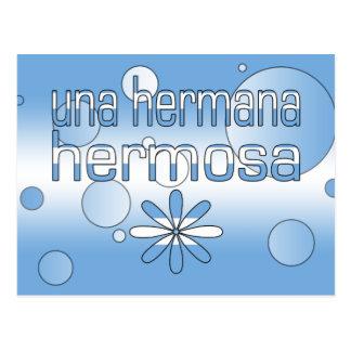 Una Hermana Hermosa Argentina Flag Colors Pop Art Postcard