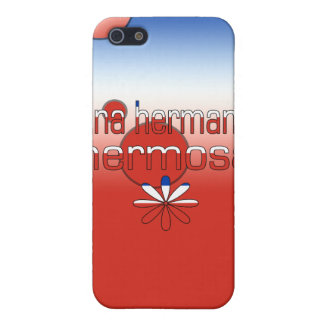 Una Hermana Hermosa Chile Flag Colors Pop Art Covers For iPhone 5