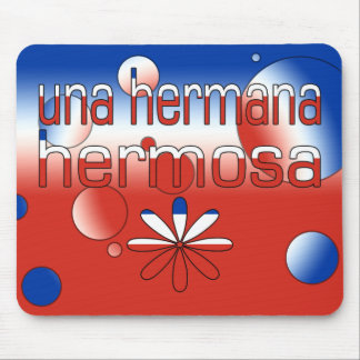 Una Hermana Hermosa Chile Flag Colors Pop Art Mouse Pad