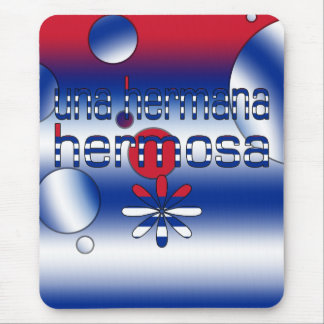Una Hermana Hermosa Cuba Flag Colors Pop Art Mouse Pad